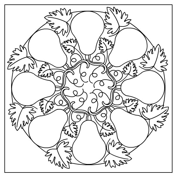 Autumn Mandala * Coloring page title=