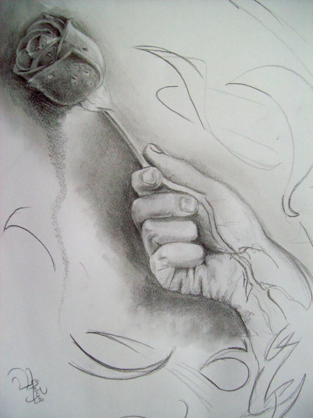Dibujos de amor: Dibujo de amor a lapiz