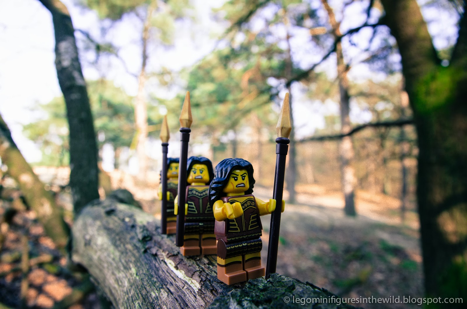 Lego Minifigures Series 10 Warrior Woman - Wallpaper