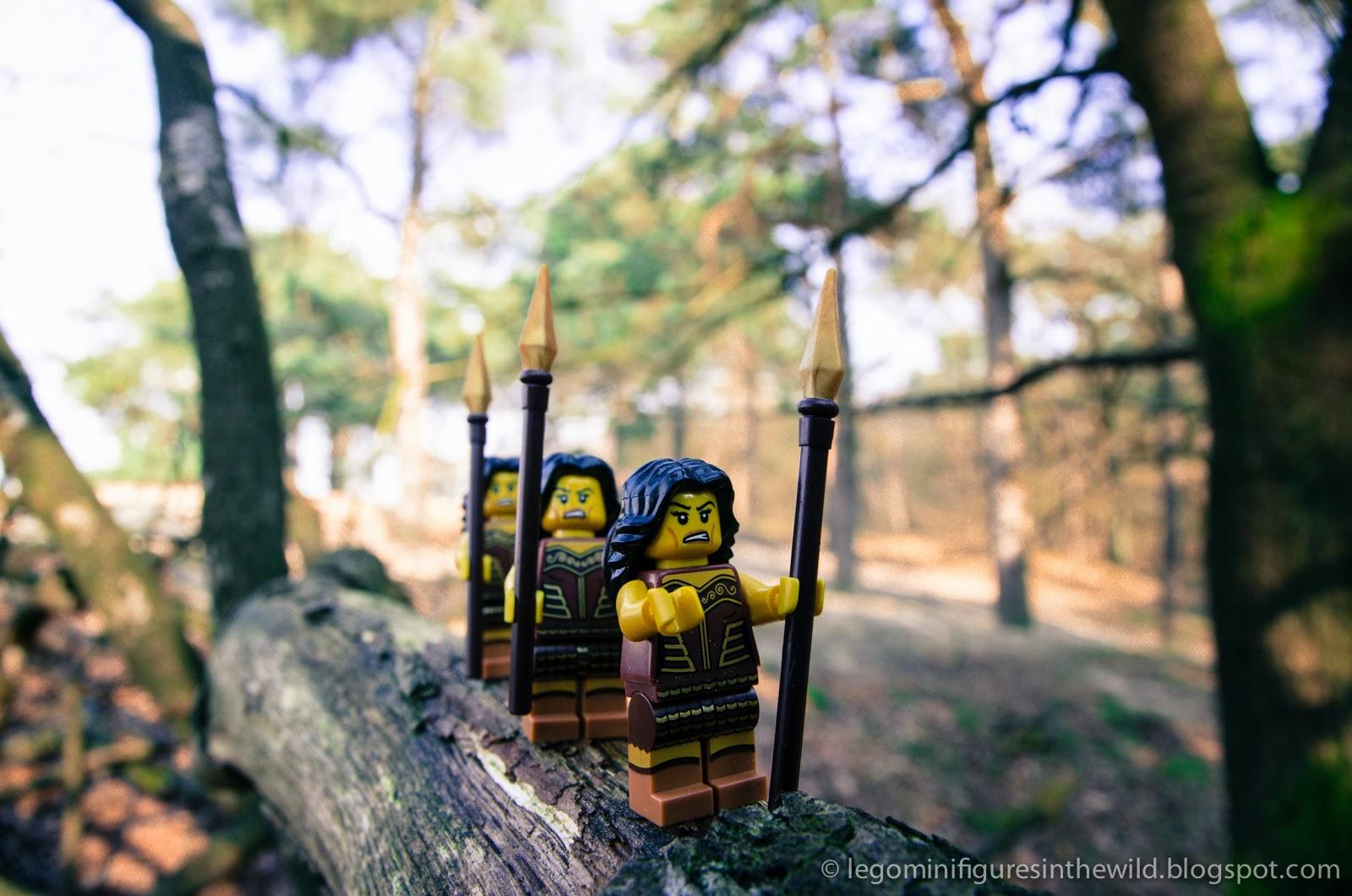 Lego Minifigures Series 10 Warrior Woman - Wallpaper