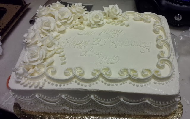 Sheet Cake Designs For Anniversary : Leah s Crazy Cake Lab: Elegant Anniversary Sheet Cake