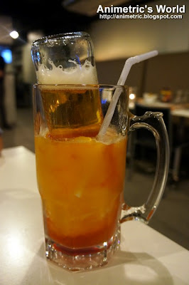 Mango Daiquiri with Upside Down Beer at Torch Restaurant