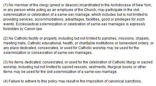 ... severe punishment if any priest or deacon dares to solemnize a gay union ...