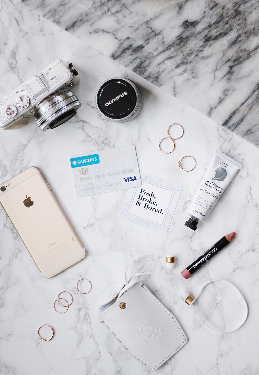 What's In My Handbag - the minimalistic 'marble-inspired' clutch