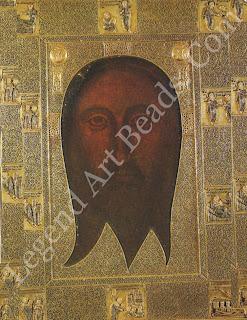 "The ""Sacro Volk"" of Genoa. Byzantine gold frame from the tenth century around an even older icon. Saint Bartolomeo degli Armeni, Genoa."