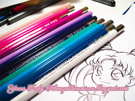 mini moon colored pencils