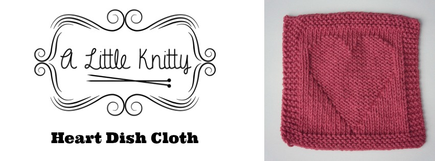 Free Knitting Pattern Friday Heart Dishcloth