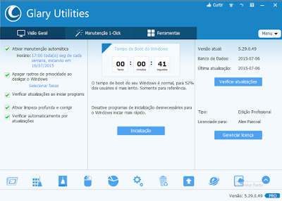 GLARY UTILITIES PRO 5.0 + SERIAL OTIMIZADOR