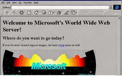 Inilah Tampilan Situs Populer 20 Tahun Yang Lalu - Microsoft