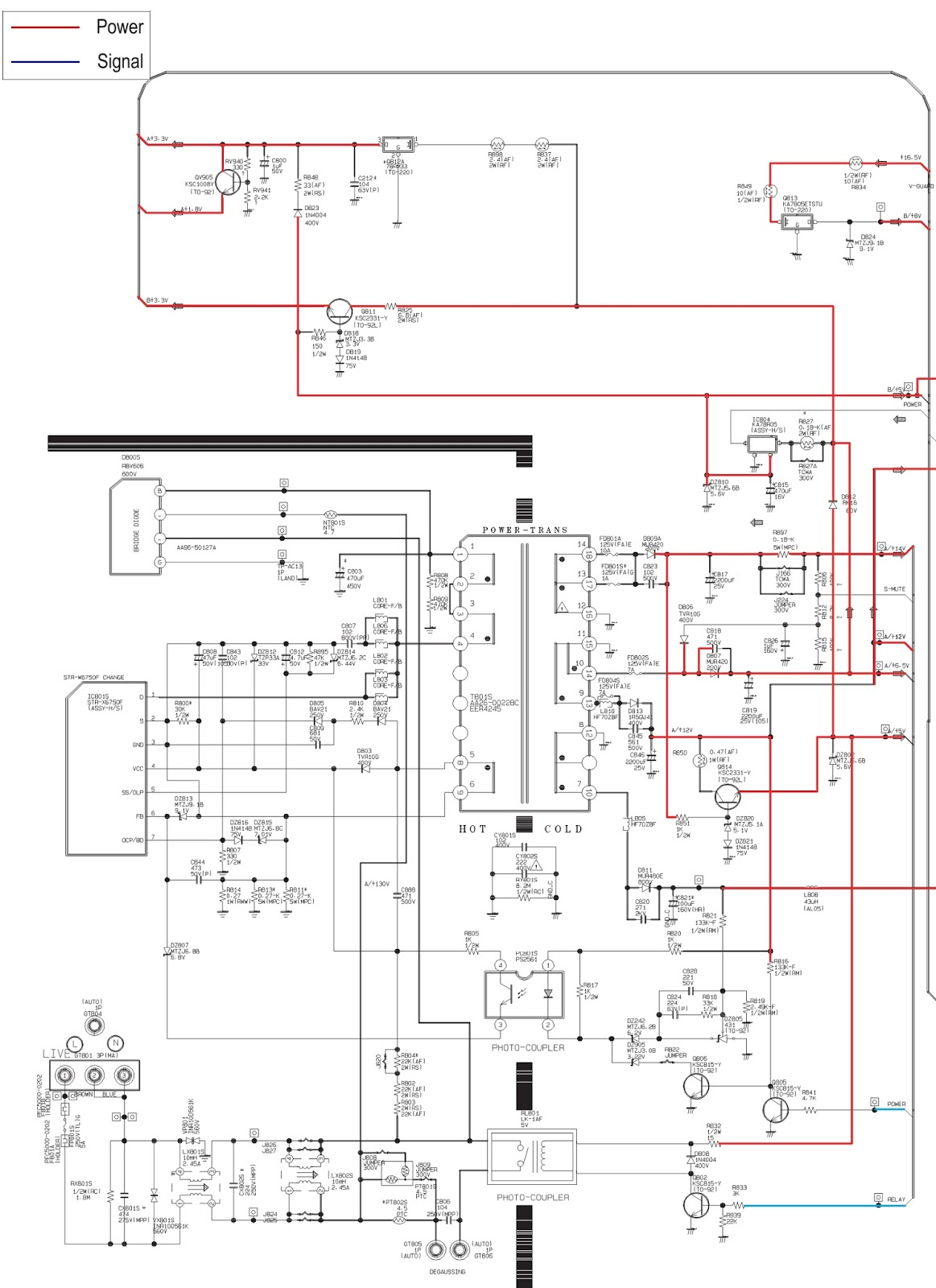Str X6750f Smps Power Supply Schematic Circuit Diagram Switch Mode