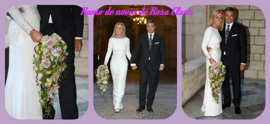 ramo novia rosa clará