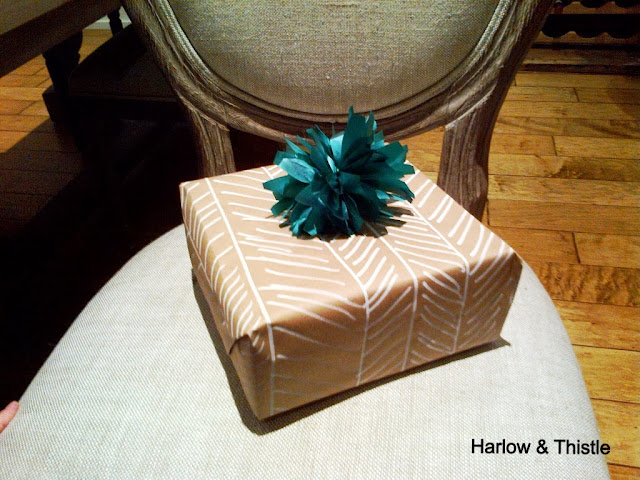 DIY Wrapping Paper & Bow