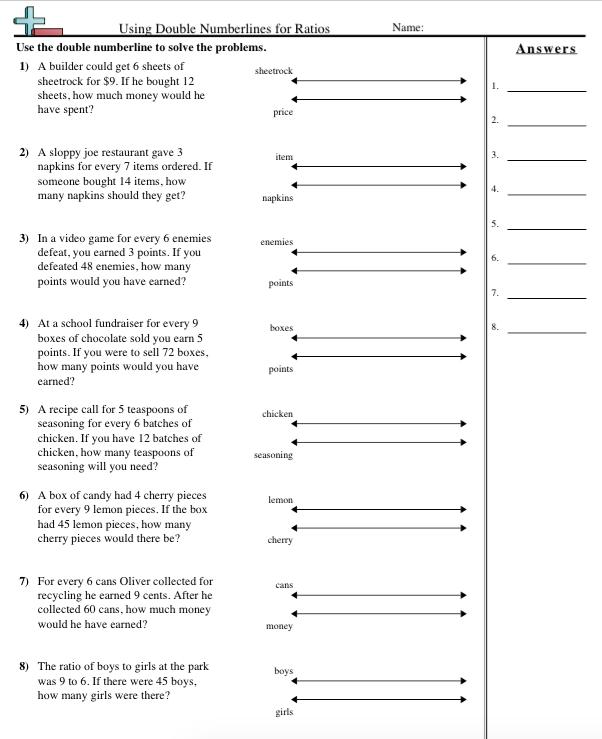 Number Line Worksheets : whole number line worksheets Whole Number ...