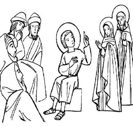 Coloriage Sainte Famille.Le Tresor De P Tit Eloi Quand Jesus Part En Pelerinage Avec Ses Parents