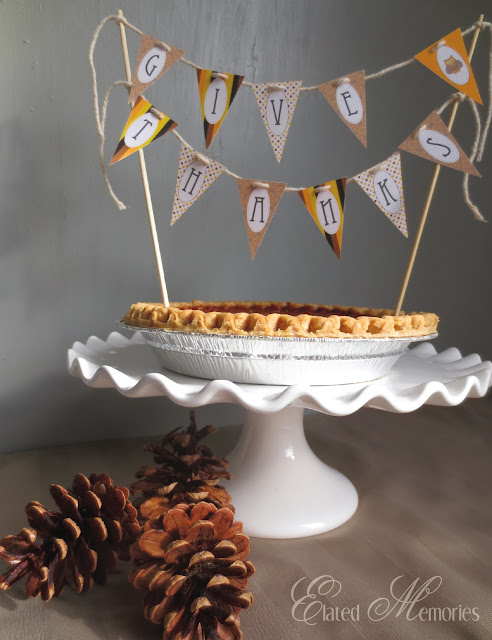 Elated Memories EMPrintables Pumpkin Pie Pine Cones