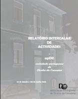 Relatório Intercalar de actividades da apDC de 2013