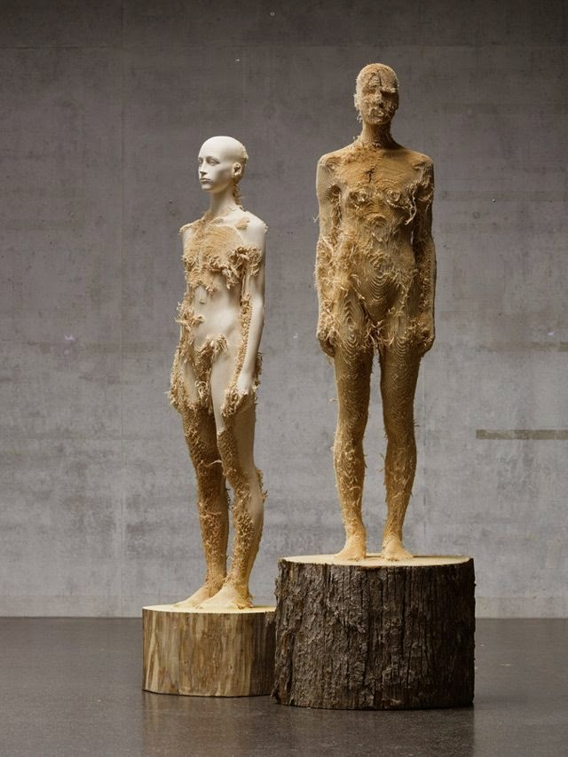 Cute Wood sculptures by Aaron Demetz