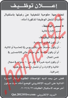وظائف جريدة الرايه 2442012
