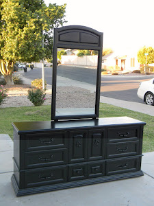 Black 9-Drawer Basset Dresser  *SOLD*