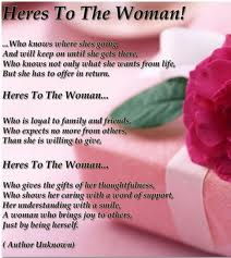 Woman's Day Poems
