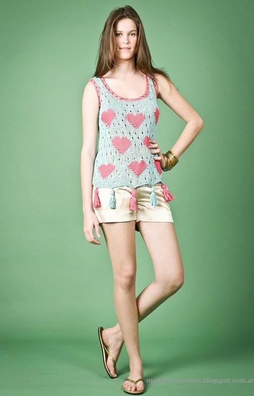 Moda Tejidos verano 2014. Agostina Bianchi moda verano 2014 colección.