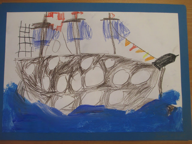 Kindergarten Kinder zeichnen