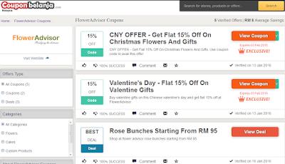 Antara pilhan voucher dan coupons dari FlowerAdvisor
