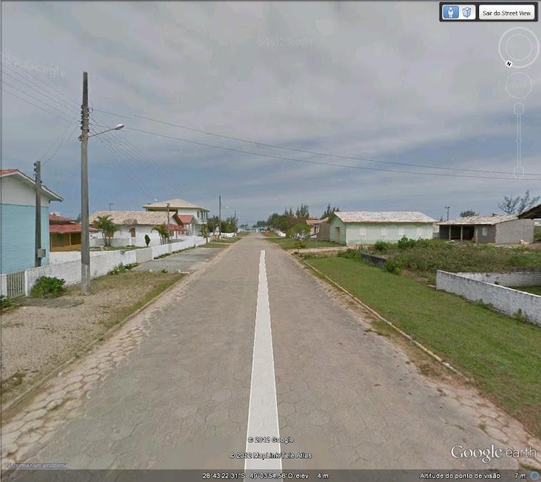 Foto extraida do Street View -praia do Campo Bom