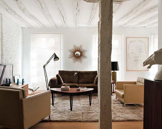 Noir blanc un style for Ideas para reformar un piso viejo