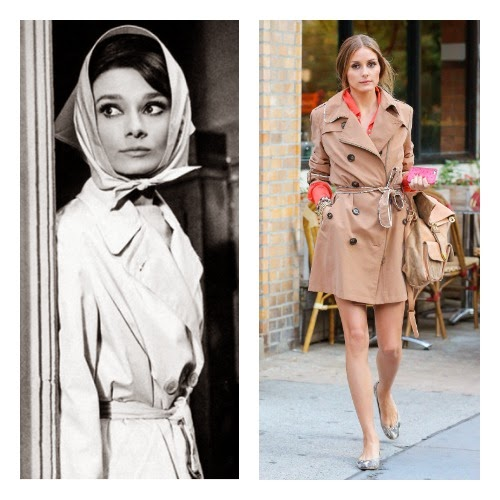 estilo audrey - trench coat