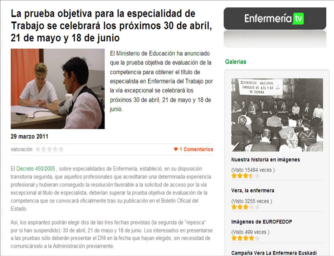 ASOCIACIÓN CANARIA DE ENFERMERÍA DEL TRABAJO: PRUEBA DE EVALUACIÓN ...