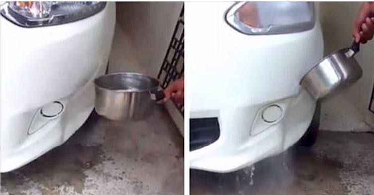 Fixing Bumper Dent With Hot Water