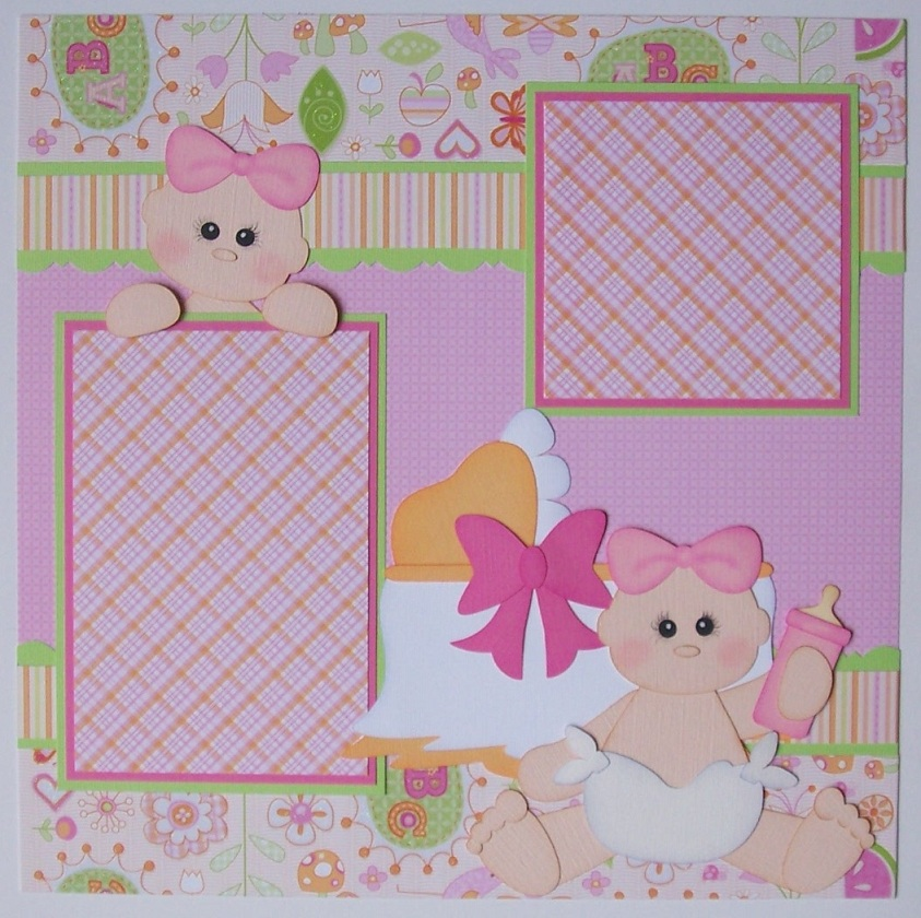 Blj Graves Studio Baby Girl Scrapbook Layout