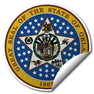 Sticker of Oklahoma Seal