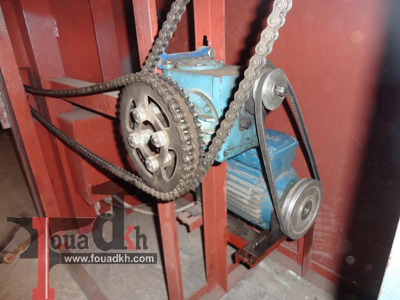 من صنعي ماكينة محلية الصنع  لتسوية و قطع الحديد automatic