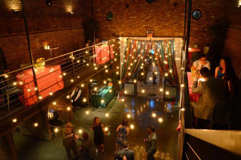 Universal Light and Sound - Recent Events: The Foundry - String Lights w/ Round Bulbs and Paper ...