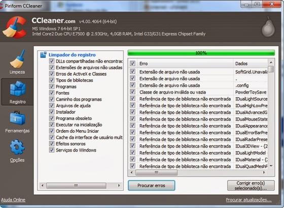 Consertando o registro com o CCleaner - 560x409