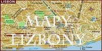 Mapa turystyczna Lizbony Mapa Lizbona Portugalia