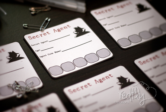 Redfly creations secret agent birthday party free printables not allow a little boy to celebrate his birthday alone keep scrolling to download the invitations a banner name tags and much more secret agent filmwisefo