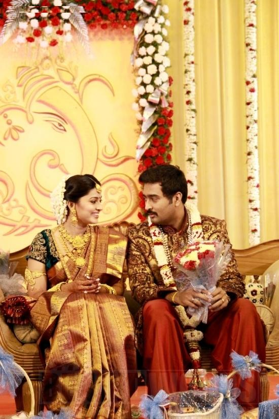 "Actress Sneha and Prasanna Marriage Reception Photos"" Title="