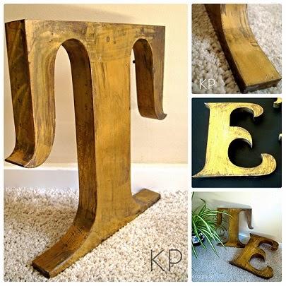 Venta de letras antiguas metálicas estilo vintage para decoración.
