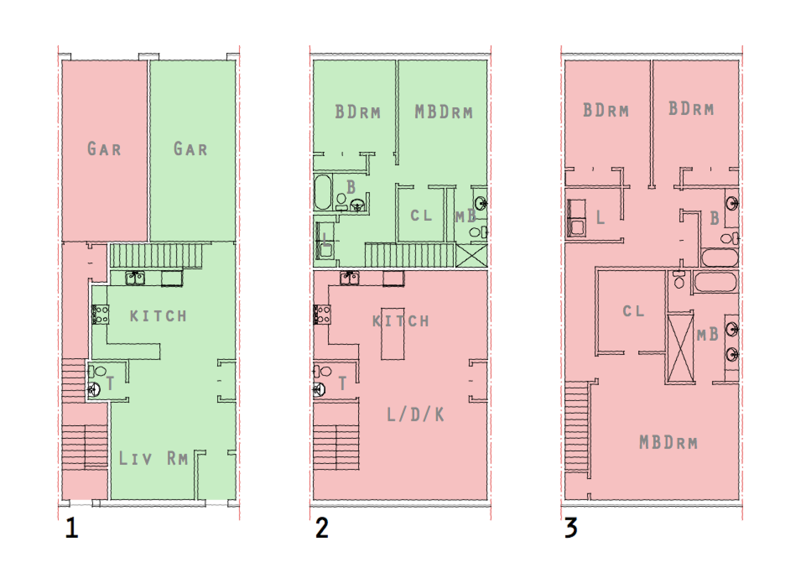 stacked townhouse floor plans uk