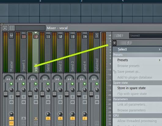 Cara menambahkan plugin Fx di mixer Fl studio