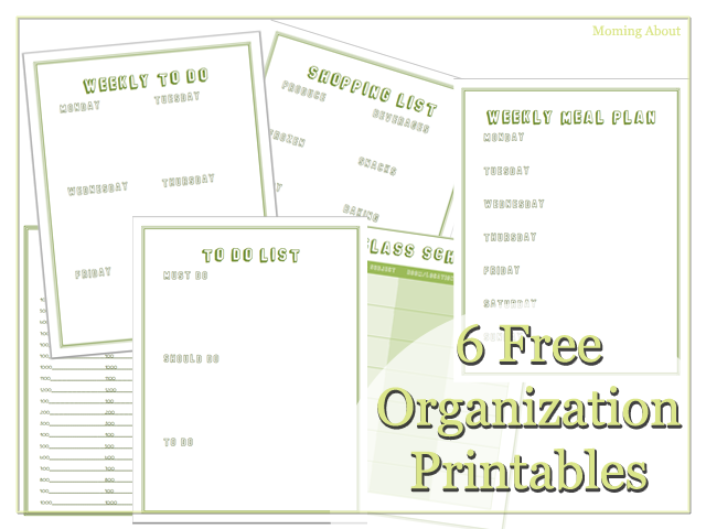 6 Free Printables to Help You Get Organized