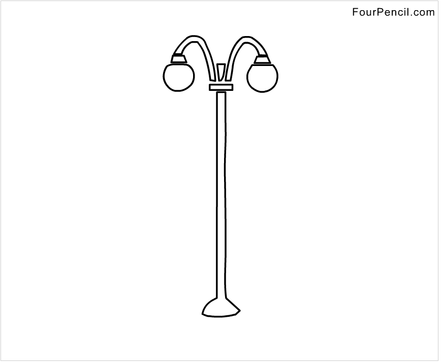 Street light coloring page free street light coloring