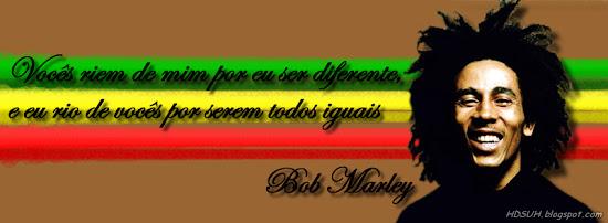 Frases do Bob Marley capa facebook reggae JAH afro
