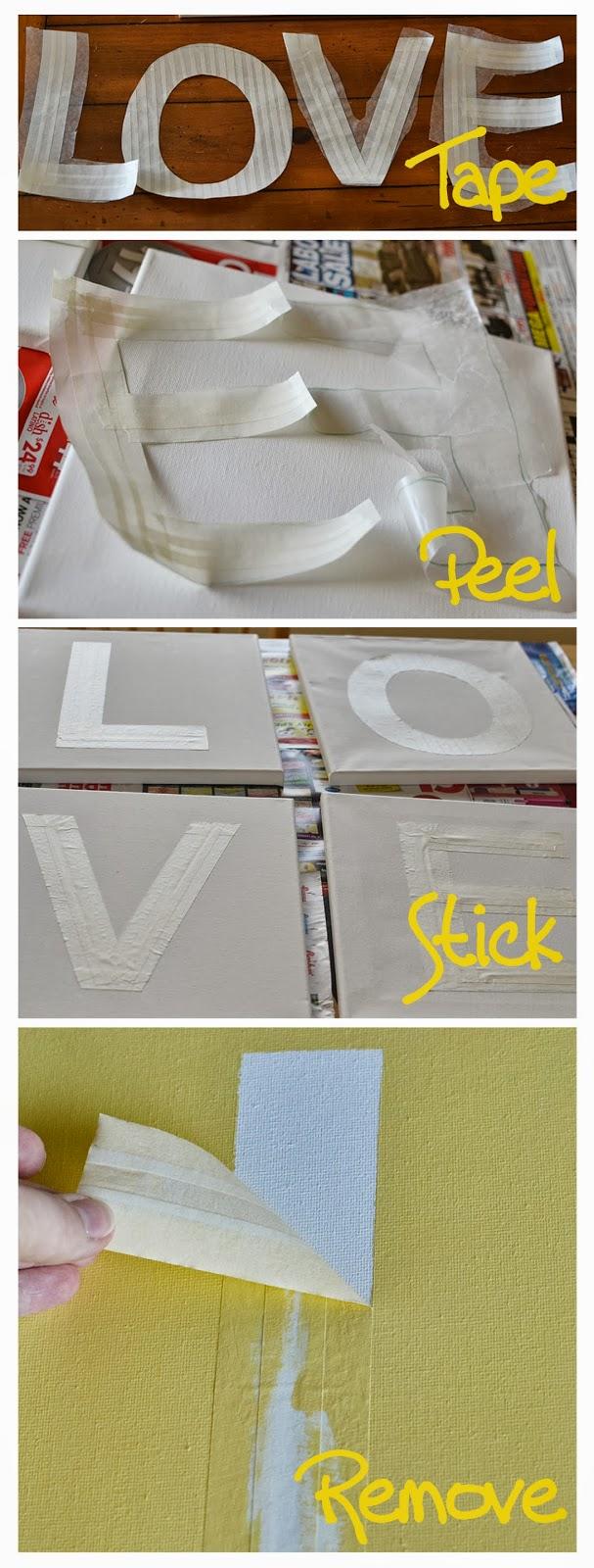 puddle designs  diy large letter stencils
