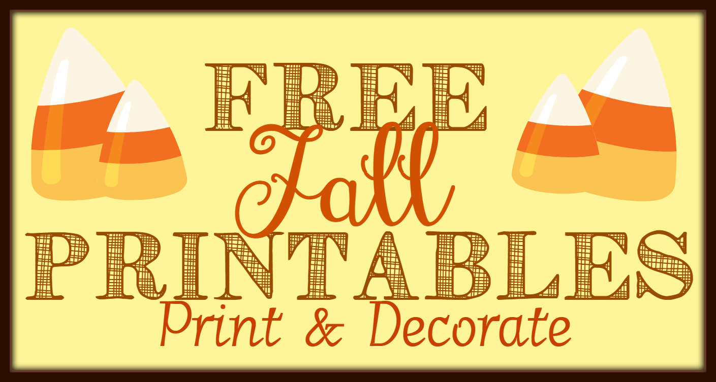 photo regarding Printable Fall Decorations titled Free of charge Tumble Printables Component 2: Print Enhance - The