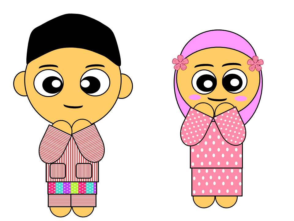 DOODLE ANAK-ANAK MUSLIM....
