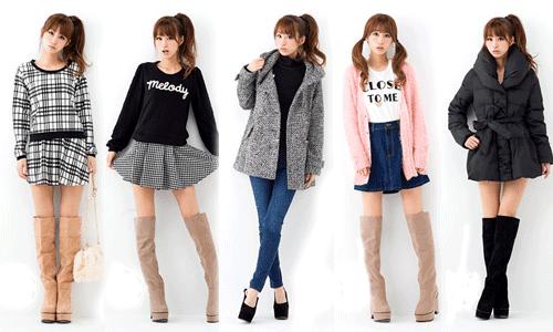5種類の冬服を着こなすコーデ画像